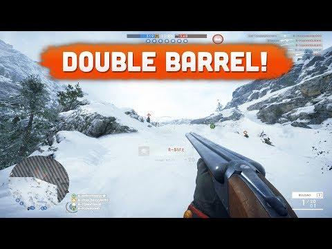DOUBLE BARREL SHOTGUN GAMEPLAY! - Battlefield 1 (Lupkow Pass DLC)
