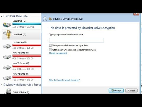 How to Unlock Bitlocker Drive  Automatically How To Remove Bitlocker