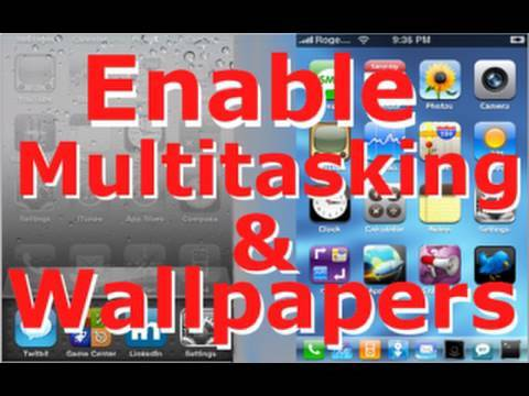 Enable Multitasking & HomeScreen Wallpaper on iPod Touch 2G & iPhone 3G - iOS 4