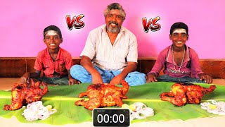 3 FULL GRILLED CHICKEN EATING CHALLENGE | TANDOORI CHICKEN EATING | WHOLE CHICKEN | FARMER COOKING