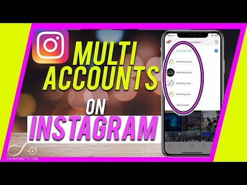 How to ADD and Use MULTIPLE INSTAGRAM accounts - (Up to 5)