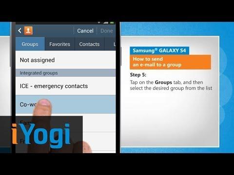 Send an group e-mail in Samsung® GALAXY S4