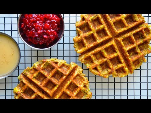 Thanksgiving Recipe | Leftover Stuffing Waffles
