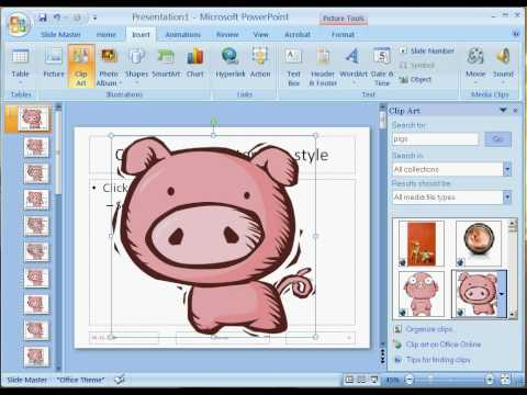 how to add a recurring background image in powerpoint 2007