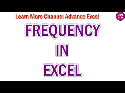 FREQUENCY IN EXCEL