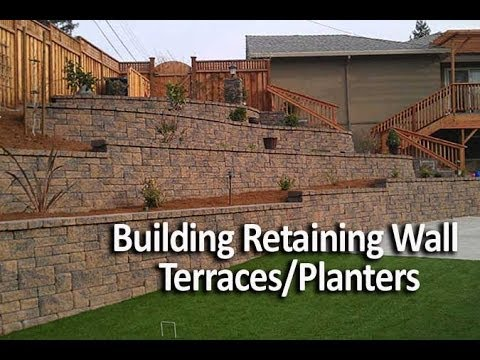 Building Terraced Retaining Walls or In-Wall Planters