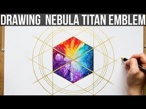 Drawing Nebula Titan Emblem   DESTINY 2