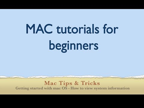 Mac Beginners Tutorial - How to view system information, mac os version