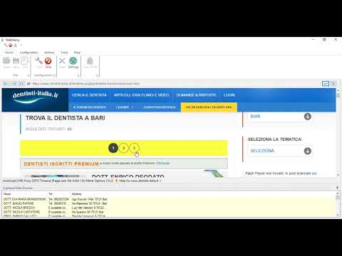How to extract Doctor contact details from dentisti-italia.it website