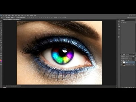 Adobe Photoshop CS6 - How to make a rainbow effect to a persons eyes
