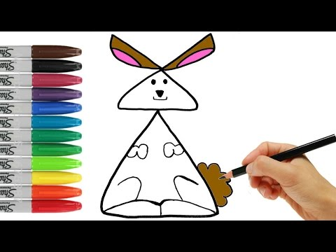 Drawing Animals How to Draw RABBIT. Examples of Simple for Kids | Coloring Page