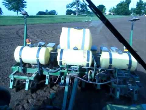 Planting corn with GPS