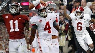 Alabama Freshman Wide Receivers Highlights 2017 (Jerry Jeudy, DeVonta Smith, Henry Ruggs III)