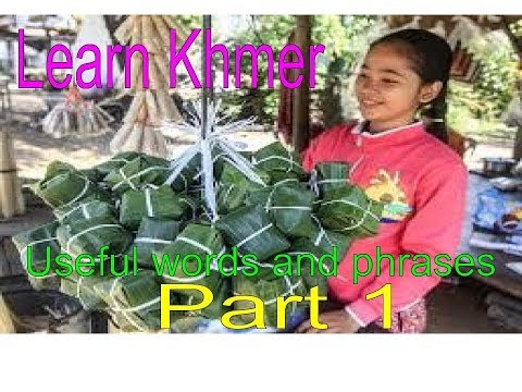Learn Khmer: useful Khmer words and phrases for  travelers part 1 | Let's Learn Khmer (part 1)
