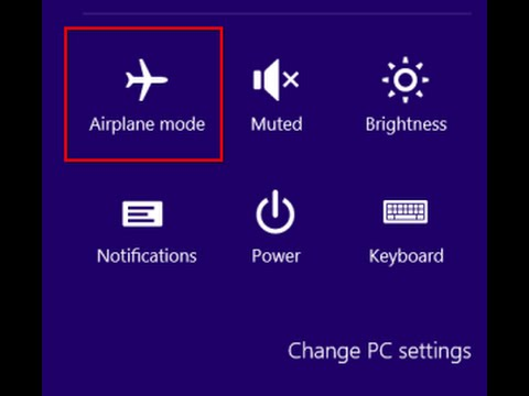 how to disable aeroplane mode in dell laptop for windows 7 and 8