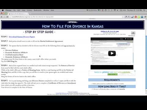 How to File For Divorce in Kansas