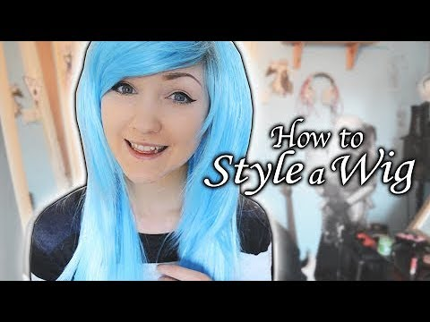 How To Style a Synthetic Wig / Make a Wig Look Natural