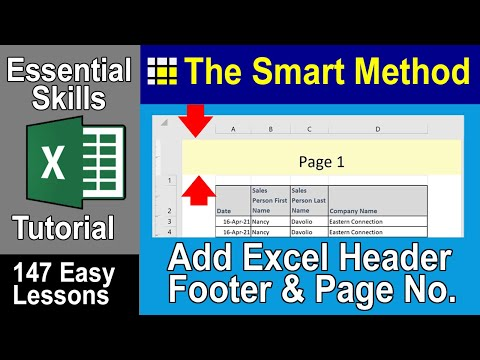 Excel Tutorial: Automatic Excel header and footer | ExcelCentral.com