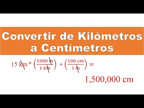 Convertir de Kilómetros a Centímetros (Km a Cm)