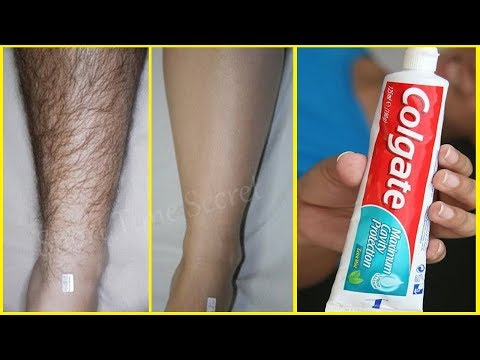 Toothpaste For Unwanted Hair Removal | Amazing Toothpaste Beauty Hacks