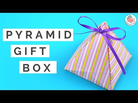 DIY Gift Box - How to Make A Pyramid Gift Box Tutorial - Gift Wrapping Idea