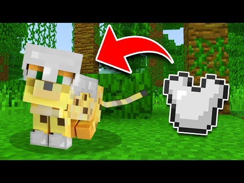 How to get OCELOT ARMOR in Minecraft Tutorial! (Pocket Edition, Xbox, Addon)