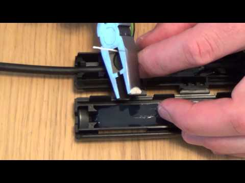 How to repair your cut telephone line with an external waterproof joint