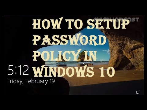 How to Setup Password Policy in Windows 10 to Protect your PC