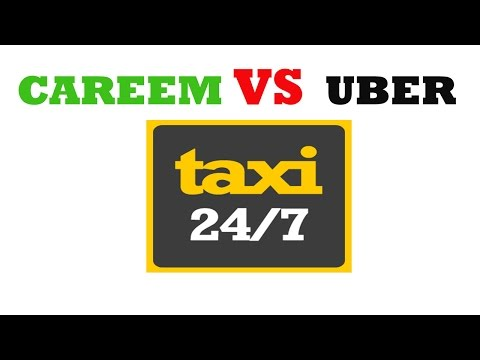 Careem and Uber 24 Hours Service Taxi