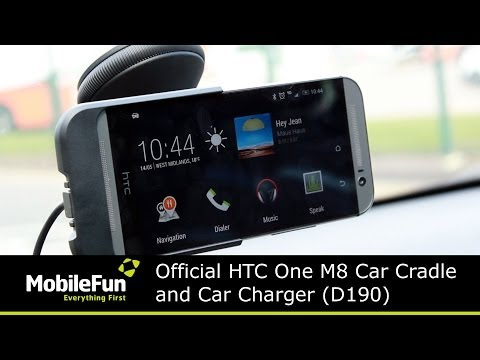 Official HTC One M8 Car Cradle and Charger D190
