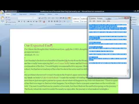 How To Clear A Word Document of ALL Formatting
