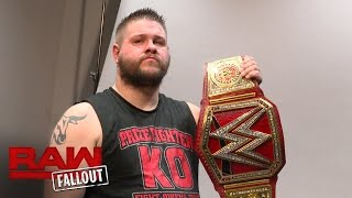 Kevin Owens gets photographed with his new WWE Universal Championship: Raw Fallout, Aug. 29, 2016