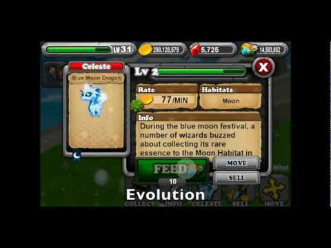 Breed the Blue Moon Dragon: Dragonvale
