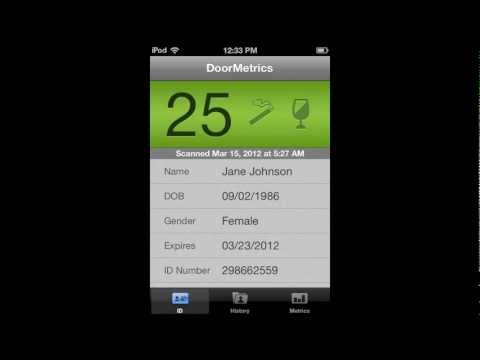 DoorMetrics - ID scanner age verification App for iPhone and iPod Touch