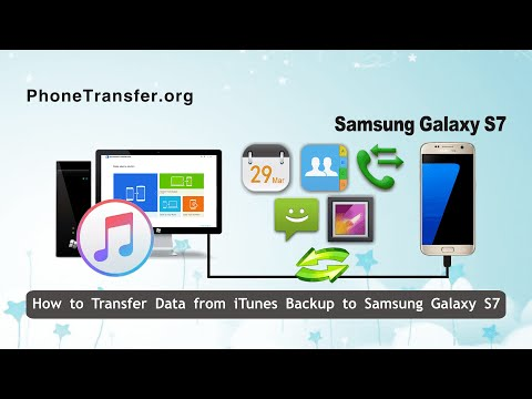 How to Transfer Data from iTunes Backup to Samsung Galaxy S7 Directly