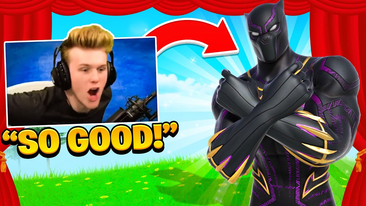 I STREAM SNIPED Fashion Shows with NEW BLACK PANTHER SKIN...