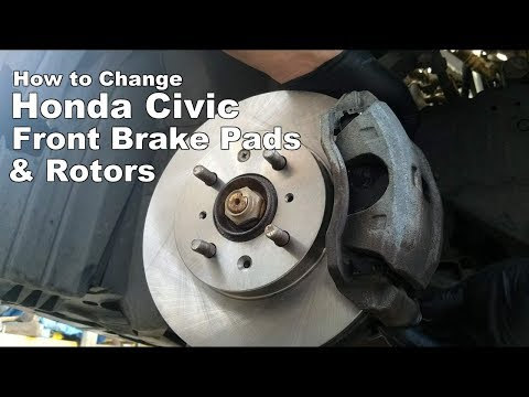 How to Change Honda Civic Front Brakes and Rotors 1996-2011