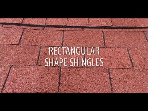 Installing rectangular roof shingles