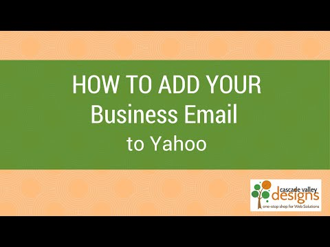 How to add domain email to Yahoo