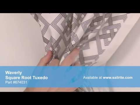 Video of Waverly Square Root Tuxedo Fabric #674031