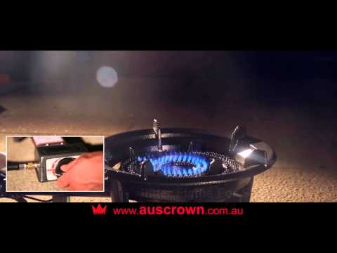 Rambo ring burner with automatic ignition