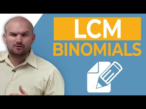 Learn how to find the LCM of two binomials