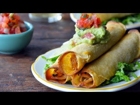Baked Chicken and Cheese Taquitos