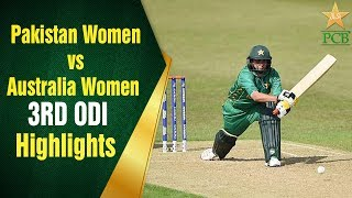 Pakistan Women vs Australia Women   3RD ODI   Pakistan Women Batting Highlights   PCB