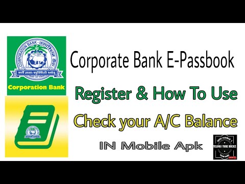Corporation Bank Users Check a/c details , balance | How to use | Register