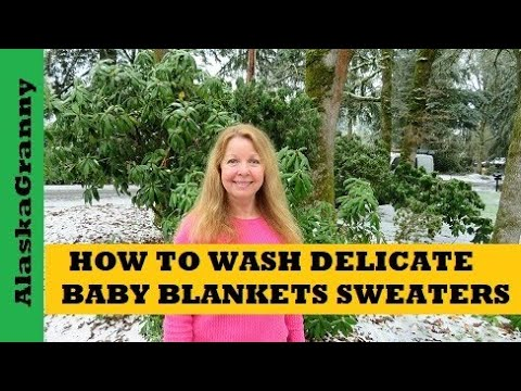 How to Wash Handmade Delicate Baby Blankets Sweaters