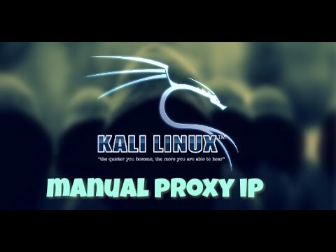 how to set manual proxy ip in kali linux 2017
