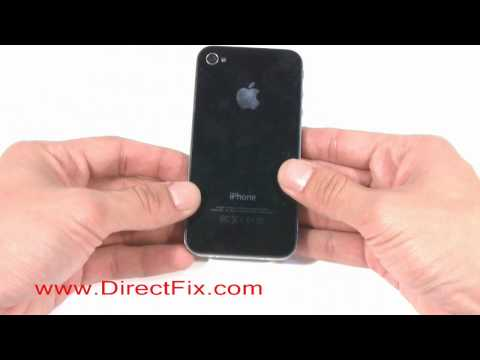 How To Replace iPhone 4 Back Glass Cover   DirectFix