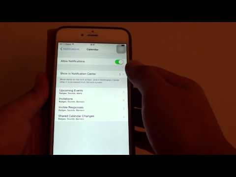 iPhone 6 Plus: Change the Number of Calendar Messages Display in Notification Center