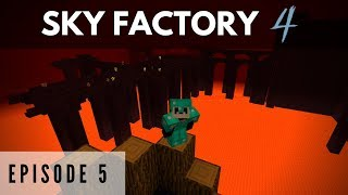 Sky Factory 4 :: Episode 4 - Tinkers Smeltery and Diamond Saplings